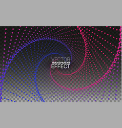 circle vortex with colored curves minimalistic vector image