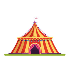 circus vintage tent flat vector image