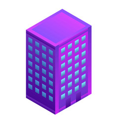 city hotel building icon isometric style vector image