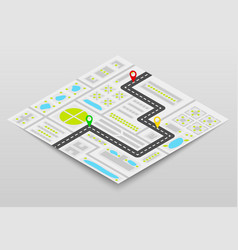 city map concept vector image