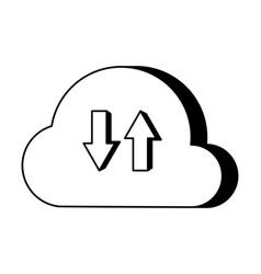 cloud computing data vector image
