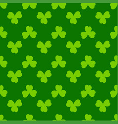 Clover leaves seamless pattern shamrock green vector