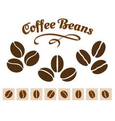 Coffee beans set vector