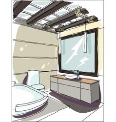 contemporary interior doodles vector image