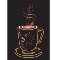 creative design for coffee vector image