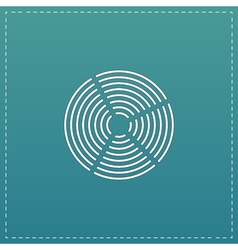 Crop Circle icon vector