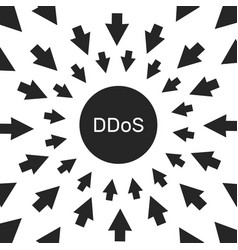 ddos hacker attack computer security vector image