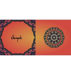 Decorative vintage eastern mandala frame vector image