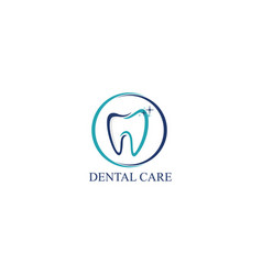 dental care icon logo design template vector image