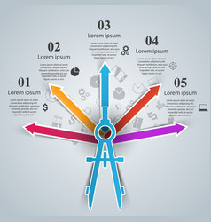 dividers infographic engineer template vector image
