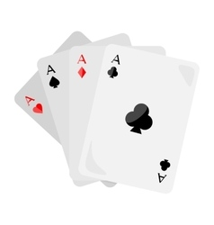 Four Aces of Diamonds Spades Hearts and Clubs vector
