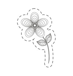 Geranium flower decoration cut line vector