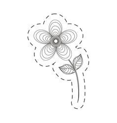 Geranium flower decoration cut line vector