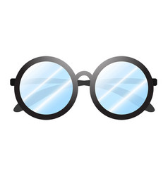 glasses on white vector image