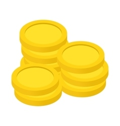Gold coins isometric 3d icon vector