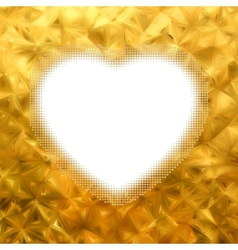 Gold frame in the shape of heart EPS 8 vector image