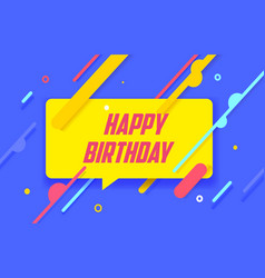 happy birthday in design banner template vector image