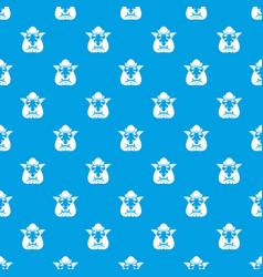 Head of troll pattern seamless blue vector