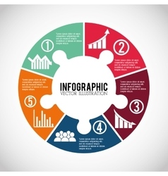 Infographic icon design vector