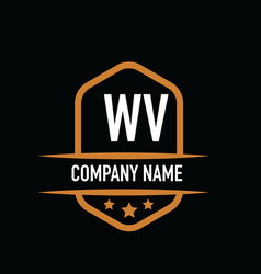 Initial letter wv vintage logo concept graphic vector
