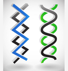 intersecting lines dna strands angular and wavy vector image