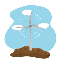 Isolated eco windmill design vector