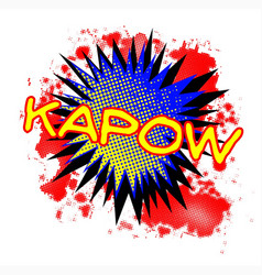 Kapow comic exclamation vector