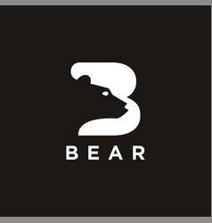 Letter b for bear logo icon template vector
