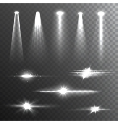 Light Beams White on Black composition vector