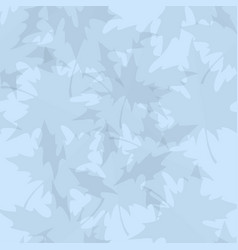 light blue seamless pattern with maple leaves vector image