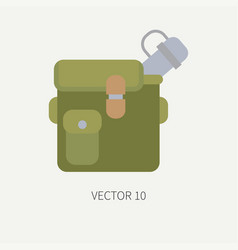 line tile color hunt and camping icon jar vector image