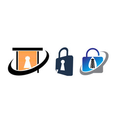 lock security service set vector image