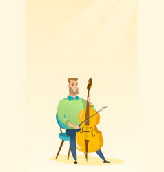 Man playing the cello vector