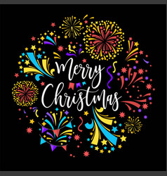 merry christmas winter holiday celebration with vector image