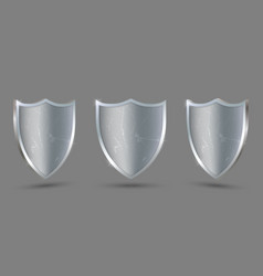 metal shield on transparent background protect vector image