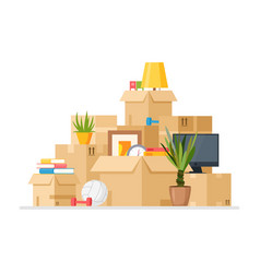 Moving to new house cartoon vector