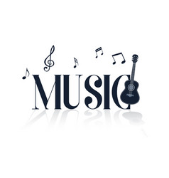 music guitar music note background image vector image