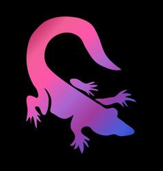 Neon animal symbol vector