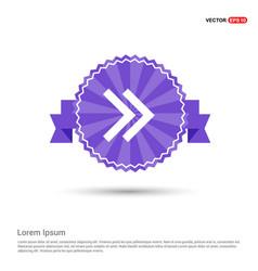 Next arrow icon - purple ribbon banner vector