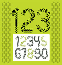 Numbers modern numerals set rounded retro vector