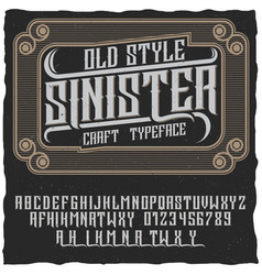 Old style sinister poster vector