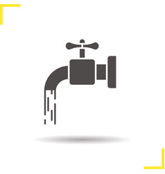 Open water faucet icon vector