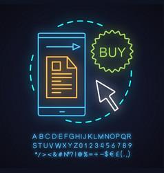 Order placing neon light concept icon vector