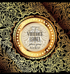 ornate golden background vector image