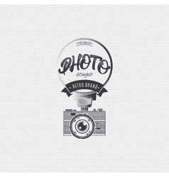 Photo studio badge insignia for any use such as vector image