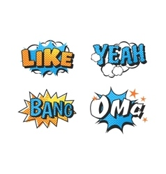 Popart comic speech bubble vector image