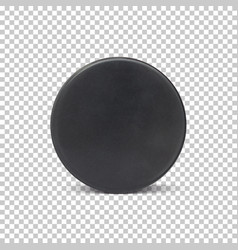 Realistic ice hockey puck vector