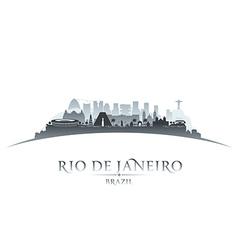 Rio de janeiro brazil city skyline silhouette vector