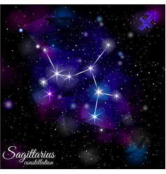 sagittarius constellation with triangular vector image
