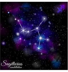 Sagittarius constellation with triangular vector